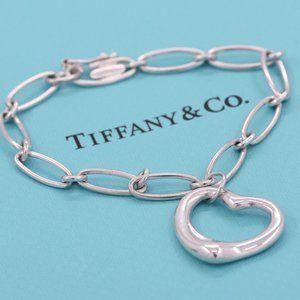 Tiffany & Co. Elsa Peretti Open Heart bracelet 925